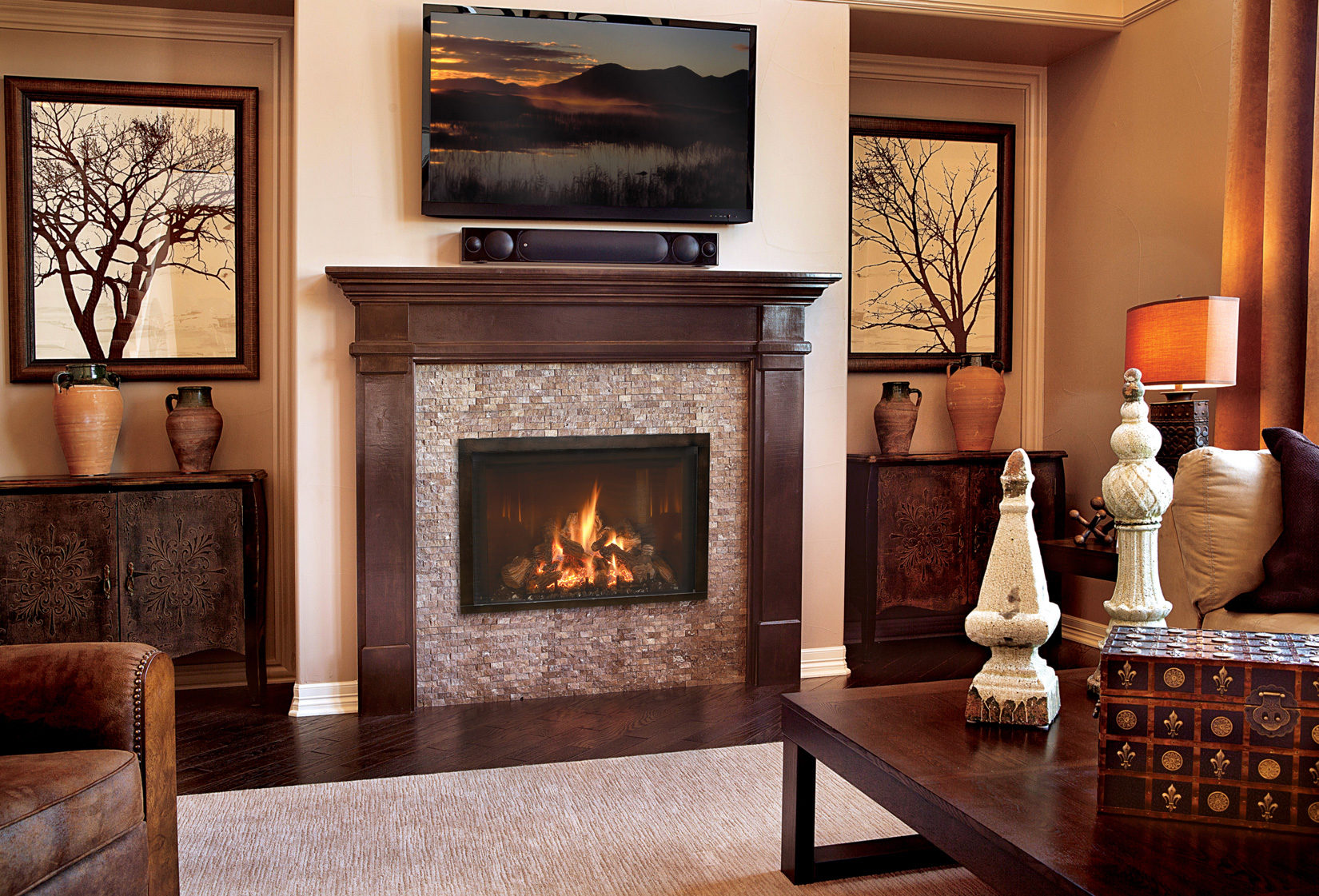 incredible living room designs fireplaces | Mendota Fullview34 - Rettinger Fireplace