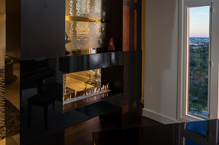 European homes see through rettinger fireplace for European home fireplace