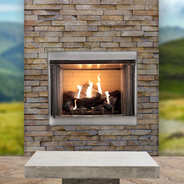 Carol Rose Coastal Collection Rettinger Fireplace