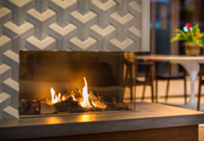 Gas Fireplaces | Contemporary Linear Gas Fireplace | Rettinger ...